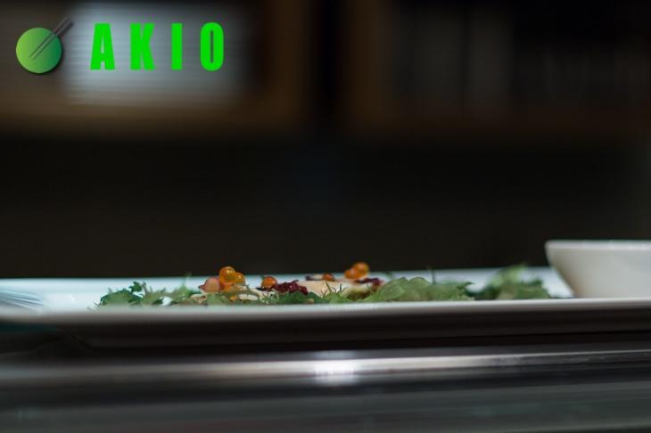 profile shot of a omakase sushi dish